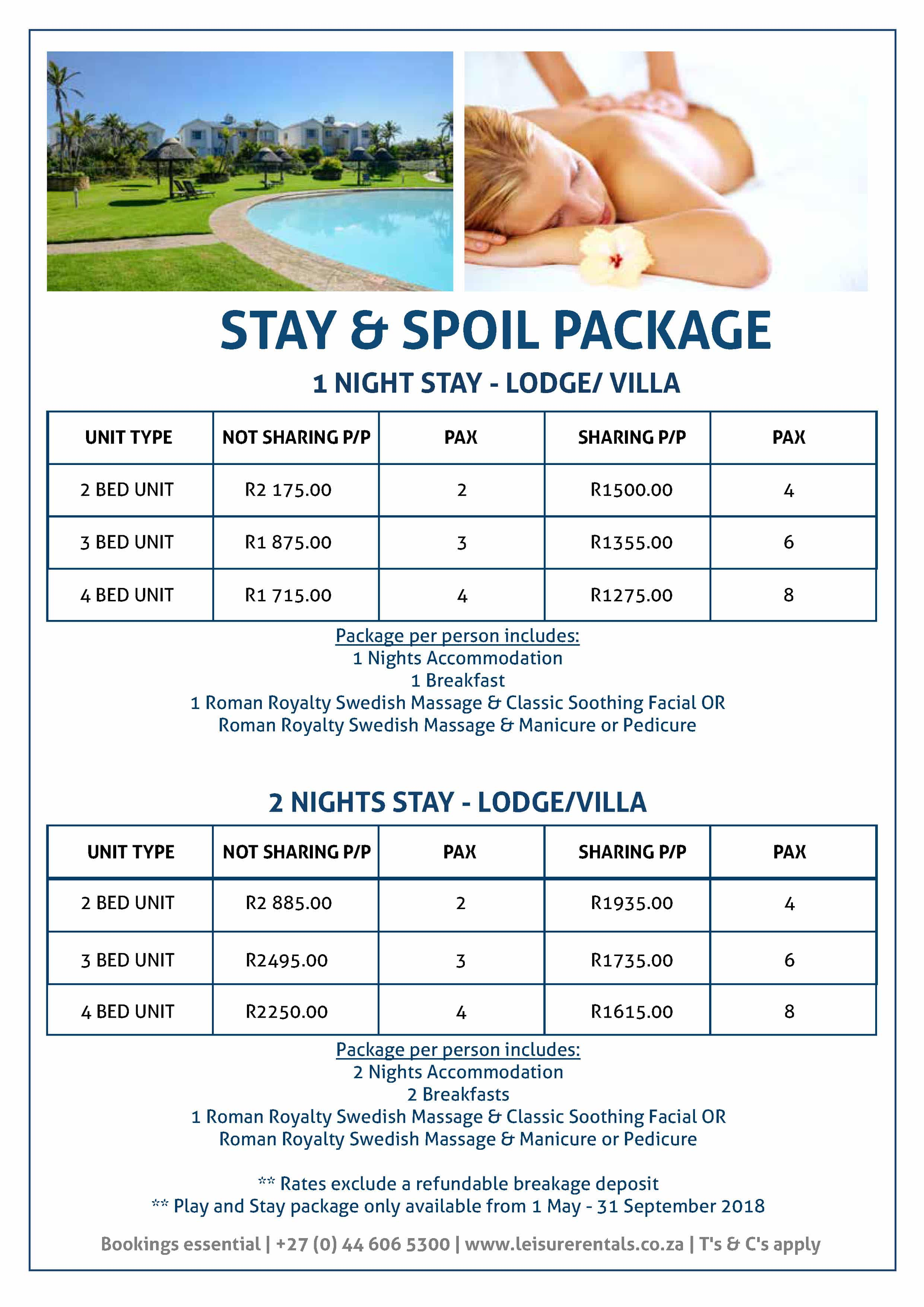2018 Leisure Rentals Packages - Page 2